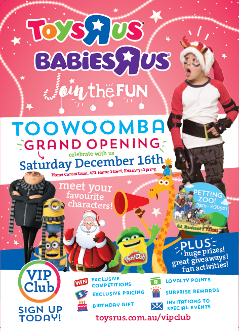 """343fbb2a631f Grand Opening of Toys""""R""""Us and Babies""""R""""Us Toowoomba!"""
